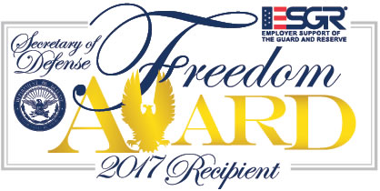 Mesa is the recipient of the Department of Defense 2017 Freedom Award